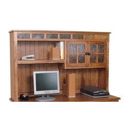Sunny Designs - Sunny Designs Sedona Computer Desk Hutch In Rustic Oak - Sunny Designs Sedona Computer Desk Hutch In Rustic Oak