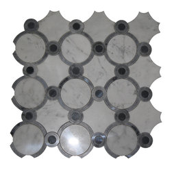 GlassTileStore - Highland Sandriff Carrera Blend Marble Tile - HIGHLAND SANDRIFF CARRERA BLEND  This marble mosaic will provide endless design possibilities from contemporary to classic. It creates a great focal point to suit a variety of settings.      Color: Gray    Chip Size: Random   Material: White Carrera. light and dark bardiglio   Finish: Polished   Sold by the Sheet - each sheet measures: 12 x 12 (1 sq. ft.)    - Glass Tiles -
