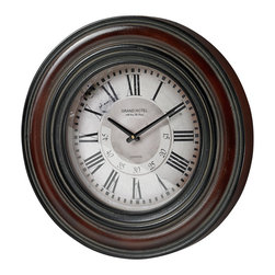 Sterling - Sterling 130-005 Large Clock Wth Distressed Handpainted Frame - Sterling 130-005 Large Clock Wth Distressed Handpainted Frame