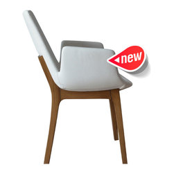 Eiffel Wood Armchair by sohoConcept - Perfectly modern in every way the Eiffel Wood Armchair will bring Mid-Century style to your modern dining room, home office or as a side chair in the living room. This great chair is an eye-catching blend of soft curves and sleek lines.