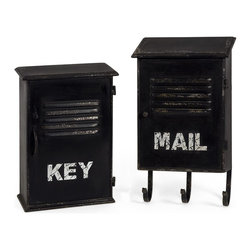 iMax - iMax Alastor Key and Mail Boxes - Set of 2 X-2-48672 - Inspired by industrial loft decor, the Alastor Key and Mail Boxes provide convenient small storage and vintage appeal.