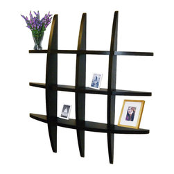 "Welland - Welland Lexington Globe Cross Display Wall Shelf, Black - This cross display shelf is made from pine wood. You can hang it to create library, display and highlight a favorite collectible. Package Included: (1) Lexington Globe Wall Shelf, Size: 29.5H"" x 4.25""D x 29.5""L"