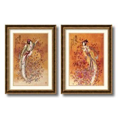 Amanti Art - Wealth & Prosperity - set by Chinese - Bring a little good fortune into your home with these traditional Asian Goddess art print. Hang it in any room for luck -- you never know what might come your way!