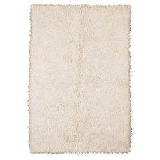 FLOKATI Rug, high pile, white