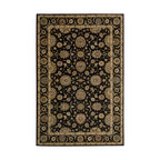 Nourison - Nourison Living Treasures Black Area Rug - Bring a rare element of history luxury and artistic sensibility into your home with this fine collection. Traditional classical Persian designs that were created centuries ago are featured in a dynamic interplay of patterns colors tones and textures. Turn any room into a sophisticated living area with these exquisitely crafted rugs.