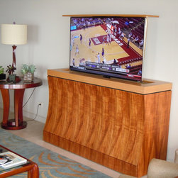 """Bayside TV Lift Cabinet by Cabinet Tronix - Bayside TV lift furniture designed by """"Best of Houzz 2014"""", TV lift specialists Cabinet Tronix. Designer US made furniture perfectly married with premium US made TV lift system."""