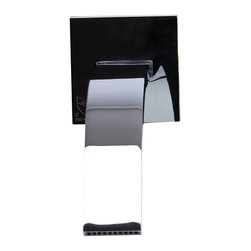 ALFI - ALFI Polished Chrome Single Lever Wallmount Bathroom Faucet - Why compromise on style? This one of a kind wall mounted lever faucet by ALFI brand offers a space saving installation option while maintaining modern elegance.