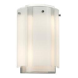 Sonneman - Sonneman 3180.01 Polished Chrome Velo 2 Light Wall Sconce with Glass Shade - Lamping Technology:
