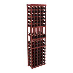 Wine Racks America - 5 Column Display Row Wine Cellar Kit in Pine, Cherry - Make your best vintage the focal point of your wine cellar. Four of your best bottles are presented at 30° angles on a high-reveal display. Our wine cellar kits are constructed to industry-leading standards. Youll be satisfied with the quality. We guarantee it.