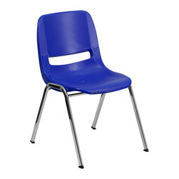 Flash Furniture - Flash Furniture Stack Chairs Plastic Student Stack Chairs X-GG-RHC-YVN-61-TUR - We consider this student stack chair to be the premier stack chair - essential for every school and classroom setting. This ergonomic stack chair provides a body molded, high impact plastic shell set upon a chrome frame. The comfort-formed back and contoured seat with waterfall front will give you complete comfort and lasting durability. [RUT-16-NVY-CHR-GG]