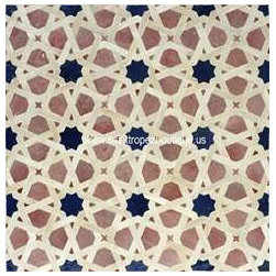 Zellij 45 Tile - This pattern is so beautiful, it's hypnotizing. I also love that these tiles are handmade in Casablanca, Morocco.