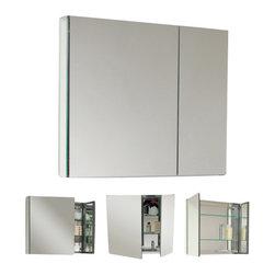 Fresca - Fresca FMC8090 30 Inches Wide Bathroom Medicine Cabinet With Mirrors - Fresca FMC8090 30 Inches Wide Bathroom Medicine Cabinet With Mirrors
