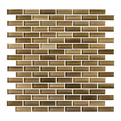 Forest Blanket Hand-Painted Glass Mosaic Subway TileTileSubway Tile