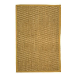 Safavieh - Safavieh Natural Fiber Casual Rug X-6-A411FN - Hand-woven with natural sea grass, this casual area rug is innately soft and durable. This densely woven rug will add a warm accent and feel to any home. The 100-percent Cotton canvas backing adds durability.