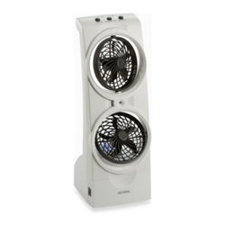 O2 Cool - O2Cool Tower Misting Fan - Tower misting fan is perfect for outdoor gatherings during the warm summer months. It reduces the surrounding air temperature by up to 30°, plus is compact and easy to carry.