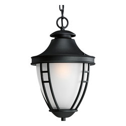 Progress Lighting - Progress Lighting P5848-31 1-Light Hanging Lantern with Etched Glass - Progress Lighting P5848-31 1-Light Hanging Lantern with Etched Glass