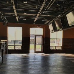 Maryville University - Roller shades installed at LJ's lounge area at Maryville University.