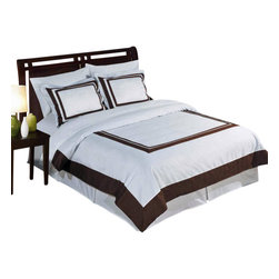 Bed Linens - Wrinkle Free Egyptian cotton Hotel Duvet cover set, Twin-TwinXL-2-pc-Set, White/ - Wrinkle-Free Soft made from 100% Egyptian cotton with 300 Thread count woven with superior single ply yarn. Fabric was treated to be wrinkle resistant so it looks as good as it feels.