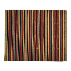1800-Get-A-Rug - Qashqai Kilim Hand Woven Striped Flat Weave Oriental Rug Sh17299 - The Flat Weave hand woven rug is a type of area rug created by weaving wool onto a foundation of cotton warps on a loom. The Flat Weave rug offers the same beauty and durability as the classical thick-pile Oriental rugs, but without the telltale thick pile often spotted in other rugs. This gives the Flat weave a thin and flat appearance which resembles the Needlepoint, making them wonderfully ideal choices as accent rugs, wall hangings, or to drape over furniture and staircases.