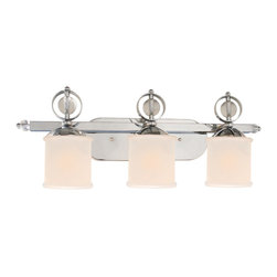 Golden Lighting - Cerchi Vanity, 3 Light - A classic concept with a chic update, these vanity lights are perfect for shedding light on your mirror-mirror on the wall. With the flip of a switch, they'll take your bathroom ambience to a new level of enlightenment.