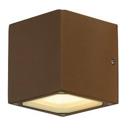 """SLV Lighting - SLV Lighting Sitra Cube Outdoor Wall Luminaire - The Sitra Cube outdoor wall luminaire was designed in Germany. Suitable for residential and commercial applications for display cabinet, under-shelf lighting, closets, workstations and staircases. Available in three finish options in energy saving bulbs, made of high grade aluminum in a truly stunning modern design. This fixture is expected to last up to 8,000 hours.   Product Details: The Sitra Cube outdoor wall luminaire was designed in Germany. Suitable for residential and commercial applications for display cabinet, under-shelf lighting, closets, workstations and staircases. Available in three finish options in energy saving bulbs, made of high grade aluminum in a truly stunning modern design. This fixture is expected to last up to 8,000 hours.  Details:                                     Dimensions:                                     Height Max: 4.5"""" (11.43 cm) X Width: 4.3"""" (10.92 cm); Length: 4.1"""" (10.41 cm)                                                     Light bulb:                                     2 X 9W GX53 fluorescent (excl.)                                                     Material:                                     Aluminum                         ETL - listed certified for use in U.S., Canada and all other countries worldwide."""