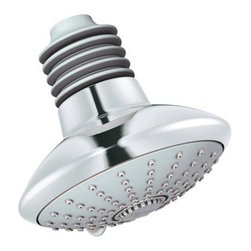 Grohe Euphoria 27247 Massage Shower Head - The Grohe Euophoria 27247 Shower Head with DreamSpray technology is a modern design that casts a cleansing cascade in three unique spray settings. This limescale-resistant fixture features bellows, SprayDimmer, a StarLight finish of your choice, and 3 adjustable patterns (Rain, eco, and massage) capable of delivering 2.5 gallons of water per minute. The .5-inch connection thread should work with most shower arms and it is suitable for instantaneous heaters.About GroheNearly as old as modern bathrooms and kitchens themselves, Grohe was started when Friedrich Grohe took over German hardware company Berkenhoff & Paschedag in 1936. Today, the Dusseldorf-based company has six production plants worldwide and has earned a reputation for providing unmatched quality, the best in design, and the latest in home technology. Grohe fittings have garnered a variety of design honors, including the reddot and iF, and Good Design awards, and they stay committed to ecologically safe policies, including WaterCare and WaterSense features on their products as well as environmental certification for their company facilities. Ranking among Europe's largest manufacturer of sanitary fittings, Grohe is a global and growing brand that sets a high standard for the industry.