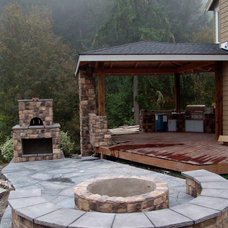 Traditional Deck by Brown Bros. Masonry