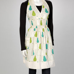 asd living - Nice Pear Loretta Halter Apron - Women - With a delightful design, this apron combines function with style and is perfect for impromptu baking sessions. It ties closed at the waist for a flattering fit. ������������������������������ 17'' W x 36'' H 100% cotton Machine wash; tumble dry Imported