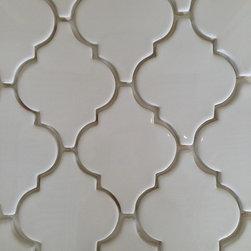 Mission Stone Tile - Smooth Arabesque Tile - White (Flat), White, 1 Square Foot - Smooth Arabesque Tile | White  (Flat)