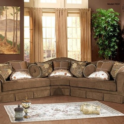 McFerran Home Furnishings - 3 Piece Leather Sectional Sofa - SF1701-SEC - McFerran Home Furnishings - 3 Piece Leather Sectional Sofa - SF1701-SEC