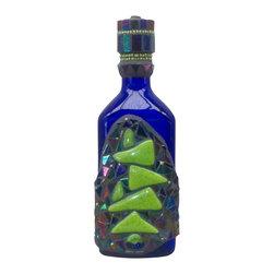 In Balance 2- Mixed Media Mosaic - Liquor Bottle / Decanter - Mosaic on recycled liquor bottle.