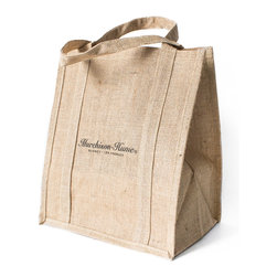 Murchison-Hume - Murchison-Hume Sustainable Jute Tote - Sustainably-grown jute exterior, with an easy to clean, waterproof lining.  These bags to the distance and stay looking good at checkout.