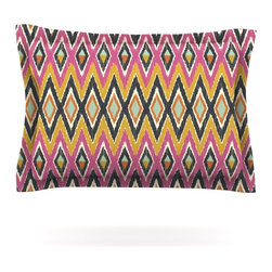 """Kess InHouse - Amanda Lane """"Sequoyah Tribals"""" Pillow Sham (Cotton, 40"""" x 20"""") - Pairing your already chic duvet cover with playful pillow shams is the perfect way to tie your bedroom together. There are endless possibilities to feed your artistic palette with these imaginative pillow shams. It will looks so elegant you won't want ruin the masterpiece you have created when you go to bed. Not only are these pillow shams nice to look at they are also made from a high quality cotton blend. They are so soft that they will elevate your sleep up to level that is beyond Cloud 9. We always print our goods with the highest quality printing process in order to maintain the integrity of the art that you are adeptly displaying. This means that you won't have to worry about your art fading or your sham loosing it's freshness."""
