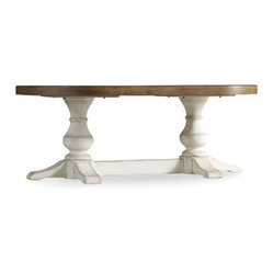 Chic Coterie Oval Cocktail Table