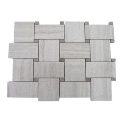 GlassTileStore - Basket Weave Wooden Beige With Athens Gray Dot Marble Tile - Basketweave Wooden Beige With Athens Gray Dot Marble Tile          This marble mosaic will provide endless design possibilities from contemporary to classic. It creates a great focal point to suit a variety of settings. The mesh backing not only simplifies installation, it also allows the tiles to be separated which adds to their design flexibility. The natural material will have a color variation. .          Chip Size: 2x2   Color: Wooden Beige and Athens Gray    Material: Marble    Finish: Honed   Sold by the Sheet - each sheet measures 10 5/8 x 10 5/8 (.78 sq. ft.)   Thickness: 8mm   Please note each lot will vary from the next            - Glass Tile -