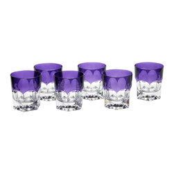 M. F Cristal De Paris - Set of 6 Nicole Amethyst Tumblers - By combining hand-engraved pieces with great classic styles, MF Cristal de Paris offers a complete range of table and decorative crystal ware. These modern and elegant designs are perfect for everyday sipping as well as special soirees.