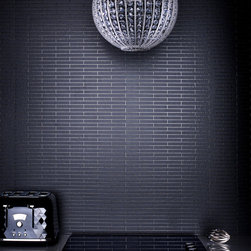 Graham & Brown - Sparkle Wallpaper - Glitter black embellishments wallpaper has been used to accentuate the grout line creating a sophisticated and stylish feel to a small scale tile effect. This contemporary wallpaper will be eye catching in any room in your home or office,