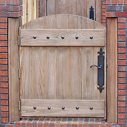 Doors by Decora - Old World Collection - DbyD3026 - This gate provides function and adds style to any fencing structure. The hardware provides the details that makes it special.