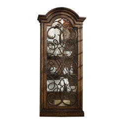Hooker Furniture - Melange Arabesque Display Cabinet - Reminiscent of an aged iron gate beckoning you to an enchanted entrance, the Arabesque Display Cabinet is a charming focal point.