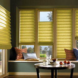 Vignette® Tiered™ Modern Roman Shades with EasyRise™ cord loop - Hunter Douglas Vignette® Collection Copyright © 2001-2012 Hunter Douglas, Inc. All rights reserved.