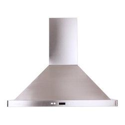 "Atlas International Inc - Euro Stainless Steel Range Hood 30"" - Cavaliere, Island Mount - Cavaliere Stainless Steel 218W Island Mounted Range Hood with 6 Speeds, Timer Function, LCD Keypad, Aluminum Grease Filters, and Halogen Lights."