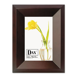 DAX - DAX Park Avenue Coffee Bean Wood Frame, Coffee Brown, 4 x 6 - Beautifully crafted Executive Collection frame with luxurious coffee bean finish adds character and prestige to your room. Solid wood with deluxe back. Two-way easel plus hangers for vertical or horizontal desktop or wall display.