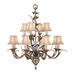 Fine Art Lamps - Fine Art Lamps 138540ST A Midsummer Nights Dream Patina Chandelier - 12 Bulbs, Bulb Type: 60 Watt Candelabra; Weight: 18lbs