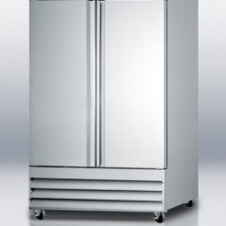 """Summit - SCRR490 54"""" 46.6 cu.ft. Commercially Listed Refrigerator  Frost-Free  Adjustable - SUMMIT SCRR490 is the ideal two-door reach-in refrigerator for any food service establishment in need of a low maintenance high quality unit designed for convenience and built for durability"""