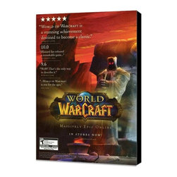 World of Warcraft 11 x 17 Video Game Poster - Style A - Museum Wrapped Canvas - World of Warcraft 11 x 17 Video Game Poster - Style A - Museum Wrapped Canvas. Amazing movie poster, comes ready to hang, stretched on canvas museum wrap canvas with color sides. Cast: Samwise Didier