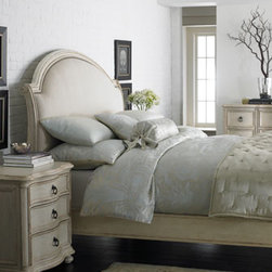 """Tristan"" & ""Caroline"" Bedroom Furniture - Neutral in color and elegant in design, the Tristan bed pictured here, will work beautifully with your existing decor.  Classic design never goes out of style.      * King bed is 98.5""L x 81""W x 64""T.    * Queen bed is 98.5""L x 65""W x 64""T.        Pricing is for Queen."