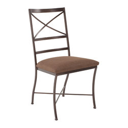 Charleston Forge - Charleston Forge Xanadu Side Chair - Treasure HuntX marks the spot. Map your way to Charleston Forge's Xanadu Side Chair for a beautiful discovery. Made by expert craftspeople in the USA, this sturdy steel side chair has a classic look and clean lines. Use it to complete your contemporary dining room, or let it add some casual elegance to your transitional space. Dig up this buried treasure from Charleston Forge.Handmade to order in the USAThis special-order item is just that: made especially for you. We unfortunately cannot accept returns on custom merchandise