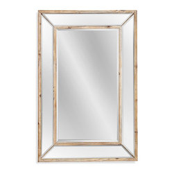 Bassett Mirror - Bassett Mirror Pompano Wall Mirror - A rustic interior won't go wrong with this rectangular wall mirror featuring scrubbed pine edges and a clean, organic look.