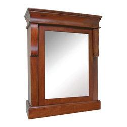 Pegasus - Naples Medicine Cabinet - NACC2531 - Manufacturer SKU: NACC2531. Made from poplar solids and birch veneer. Warm cinnamon finish. 21 in. W x 8 in. D x 25 in. H (33 lbs.)