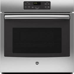 "GE - JK1000SFSS 27"" 4.3 cu. ft. Capacity Built In Single Wall Oven With Ten-Pass Bake - This built-in single wall oven comes with 43 cu ft oven capacity ten-pass bake element and eight-pass broil element giving you everything you will need in an oven"